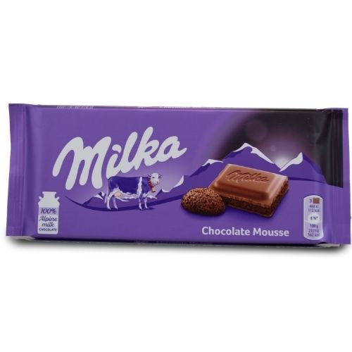 Milka Chocolate Mousse Chocolate Bar - 100 g