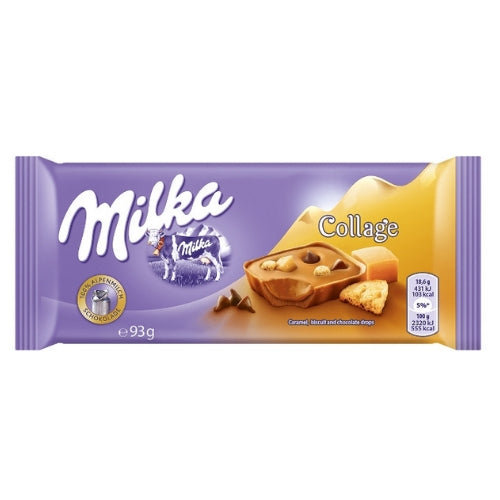 Milka Collage Caramel Chocolate Bars-93 g