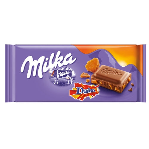 Milka Daim Chocolate Bars-100 g