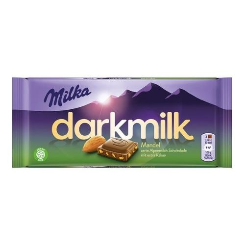 Milka Darkmilk Almond Chocolate Bar | Candy District