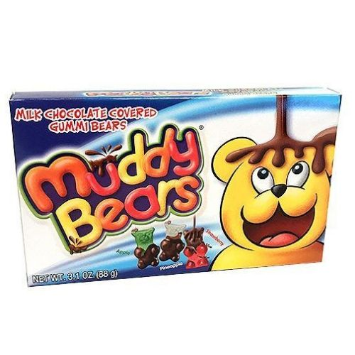 Muddy Bears Milk Chocolate Covered Gummi Bears Theater Box