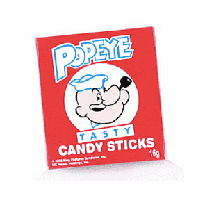 Popeye Candy Sticks-Old Fashioned Candy