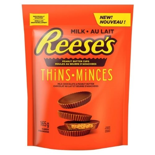 Reese's Thins Peanut Butter Cups Milk Chocolate - 165 g