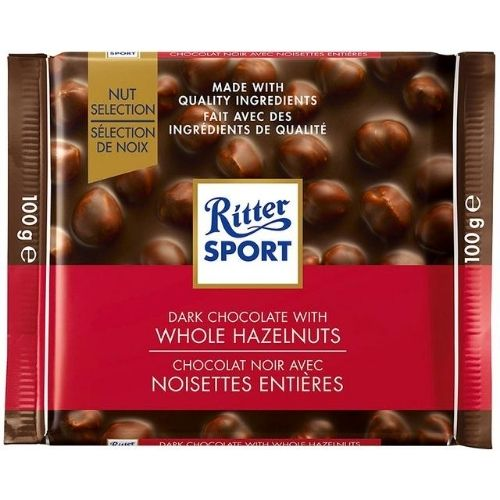 Ritter Sport Dark Chocolate With Whole Hazelnuts - 100 g