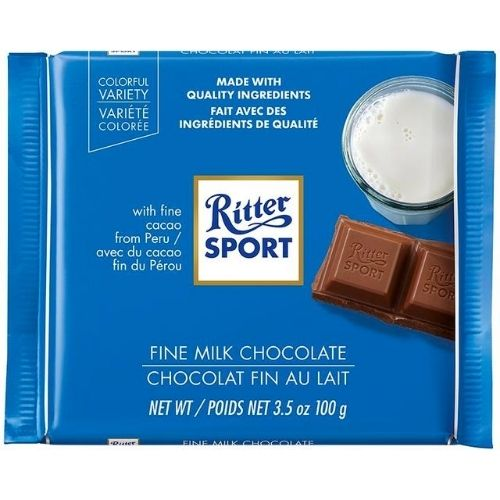 Ritter Sport Fine Milk Chocolate - 100 g