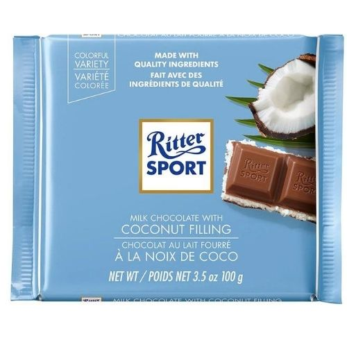 Ritter Sport Milk Chocolate With Coconut - 100 g