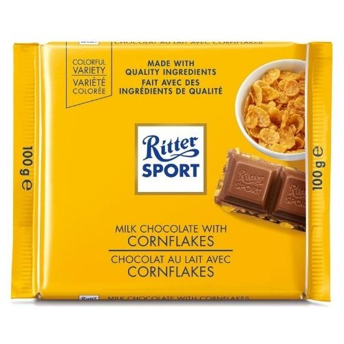 Ritter Sport Milk Chocolate With Cornflakes - 100 g