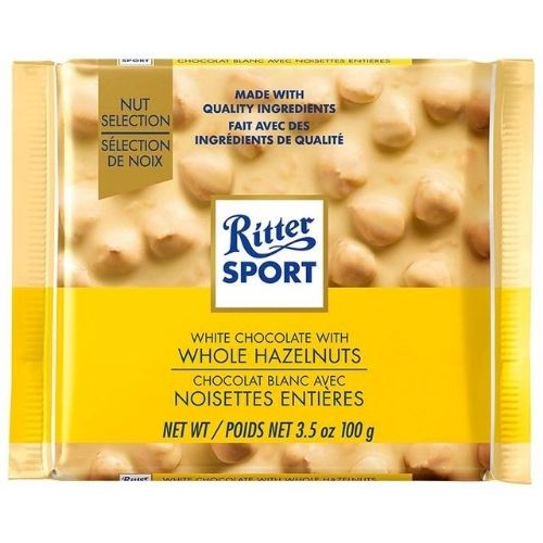 Ritter Sport White Chocolate With Whole Hazelnuts - 100 g