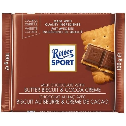 Ritter Sport Milk Chocolate With Butter Biscuit - 100 g