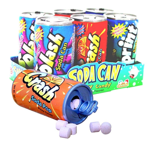 Soda Cans Fizzy Candy 6 Pk