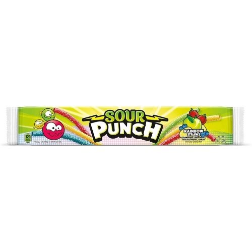 Sour Punch Rainbow Straws Licorice Candy - 2 oz.
