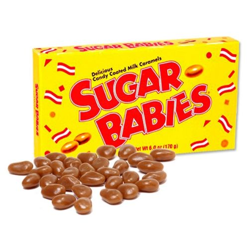 Sugar Babies Candy Coated Caramels Retro Candy Theater Box