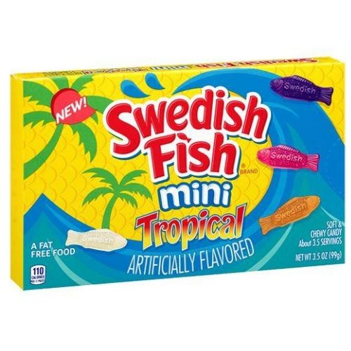 Swedish Fish Mini Tropical Candy Theater Box