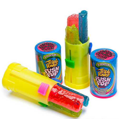 Triple Power Push Pop-Lollipops-Online Candy Store Canada