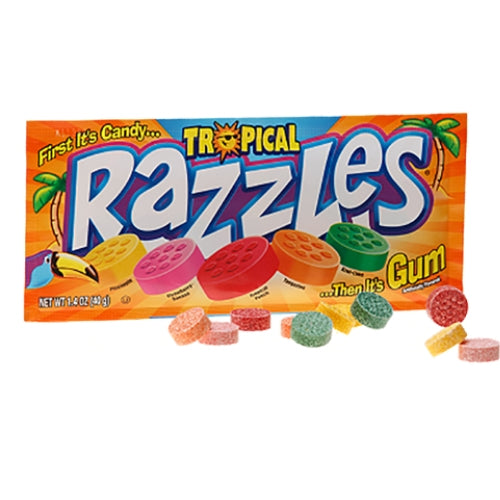 Razzles Tropical Retro Candy & Gum