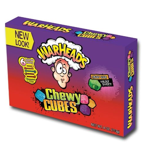 WarHeads Chewy Cubes Sour Candy Theater Box