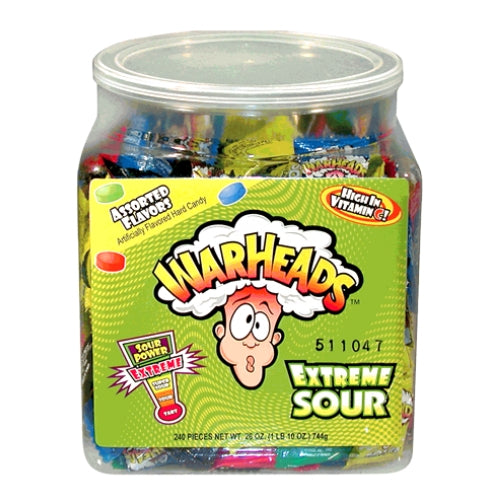 Warheads Extreme Sour Hard Candy-240 CT Tub-Bulk Candy Canada