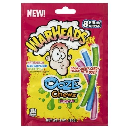 WarHeads Ooze Chewz Ropes Sour Candy