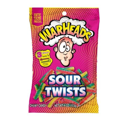 Warheads Sour Twists Candy -113 g