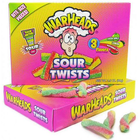 Warheads Sour Twists Chewy Candy Theater Pack-3.5 oz