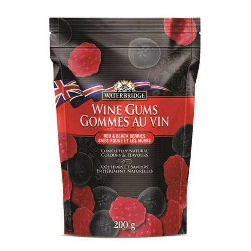 Waterbridge Red & Black Berries Wine Gums-200 g British Candy