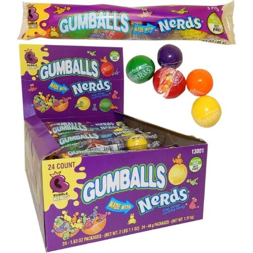 Wonka Candies Nerds Filled Gumballs-46 g