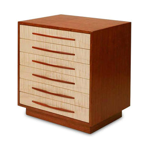 Heartwood Canyon Collection 7 Drawer Jewelry Box - Tiger Maple & Bloodwood