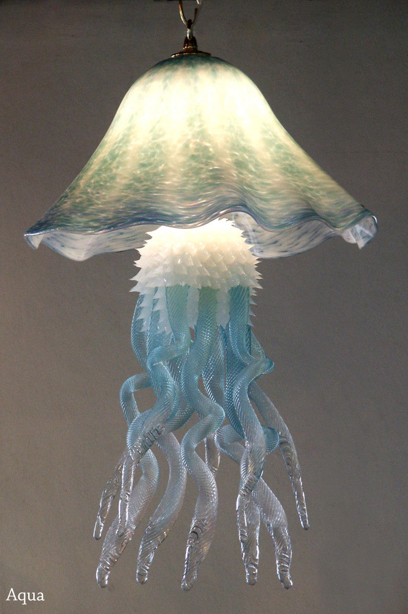 Custom single dome jellyfish chandelier anamericancraftsman custom single dome jellyfish chandelier mozeypictures Images