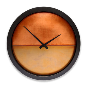 Nate Wall Clock Black and Copper