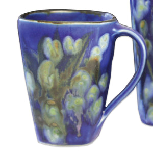 Butterfield Pottery Medium Square Shaped Mug in Blue