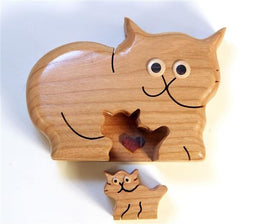 Cat & Kitten Puzzle Box - Boxology