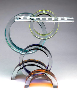 Arches Menorah Glass Sculpture Shardz by Fay Miller | An American Craftsman
