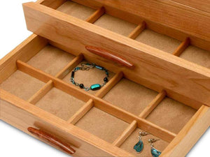 Cascade I Jewelry Box – 2 Drawer Pearl