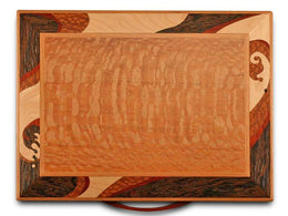 Heartwood Wave Marquetry Designer Collection 2 Drawer Jewelry Box