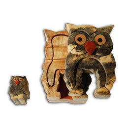 Owl Miniature Puzzle Box - Boxology