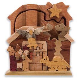 Nativity Scene Miniature Puzzle Box - Boxology