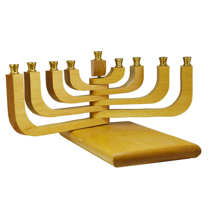 Adjustable Yellow Heart Menorah
