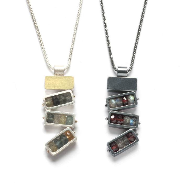 Four Rectangles Necklace - Vertical