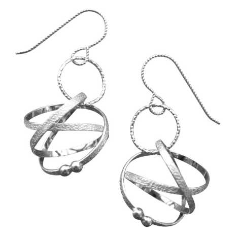 Drop earrings, small Mobius