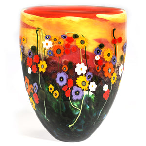 Vase in Red and Yellow - Garden Series