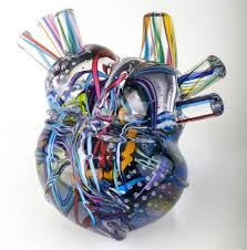 Anatomical Glass Human Heart