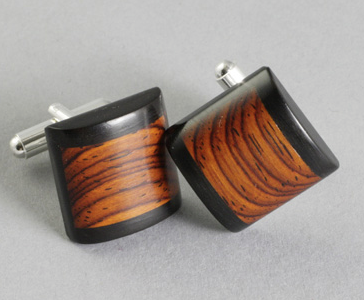 Cuff Link Wood Dome