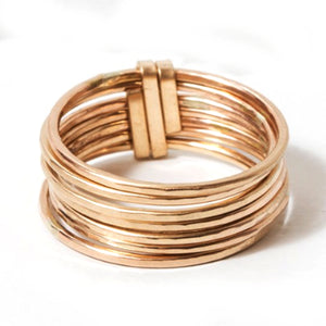 Zuzko Stacked Ring Short Gold