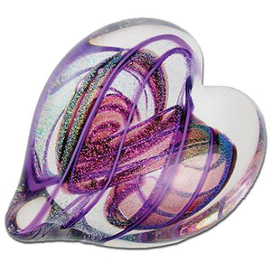 Amethyst Heart of Fire Paperweight