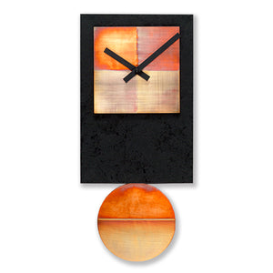 Black Tie Pendulum Clock with Copper