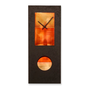 Black & Copper Pendulum Clock