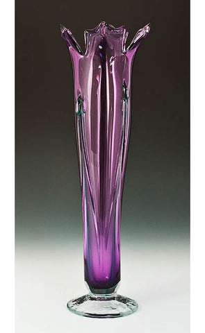 Iridized Flower Vase