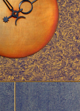 Jane 30 Pendulum Clock - Blue & Gold