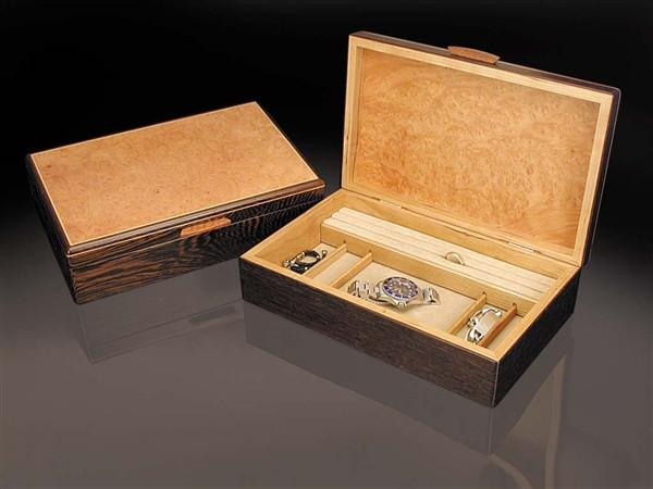 Heartwood Mesa Collection Jewelry Boxes Wenge, Madrone Burl & Cherry