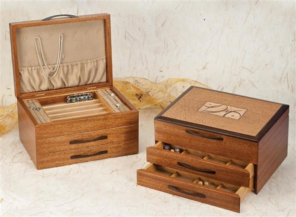 Heartwood Montana Designer Collection 2 Drawer Jewelry Box